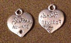 973. Sisters Always Heart Pendant