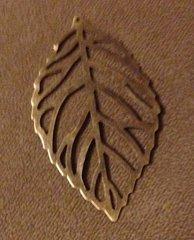 863. Large Bronze Leaf Pendant