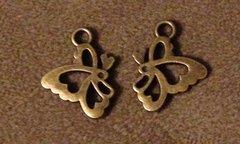 660. Bronze Butterfly Pendant