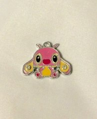 839. Pink Stitch Angel Pendant