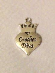 1517. Crochet Diva Pendant