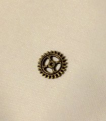 168. Antique Bronze small Clock Gear Pendant