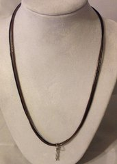 1006. Black & Brown Double Strand Necklace