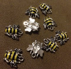 225. Enameled Bee Pendant