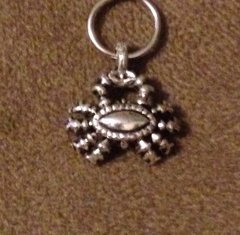 890. Antique Silver Crab Pendant