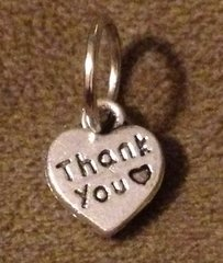 983. 2 sided Thank You Heart Pendant