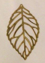 712. Bronze Leaf Pendant