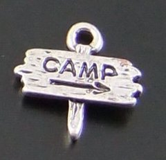 111. 'camp' picket sign Pendant