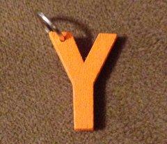 952. Wood Letter Y Pendant