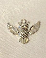 1395. Owl in Flight Pendant