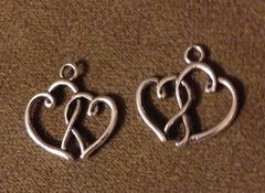 496. Hollow Double Heart Pendant