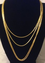 1011. Golden Snake Chain Necklace