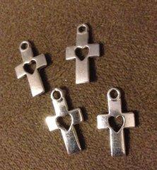 331. Cross with Heart Pendant