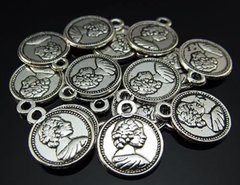 782. Double Sided Female Coin Pendant