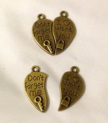 1218. Don't Forget Me I want You Heart Pendant