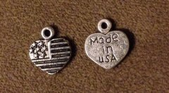471. US Flag Heart Pendant
