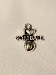 1415. I Love Softball Pendant