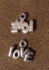 492. Small 'love' letters Pendant