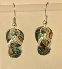 1655. Abalone Shell Flip Flop Earrings