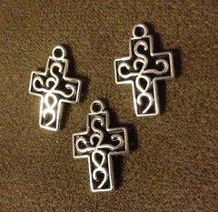 338. 2 sided Small Cross Pendant