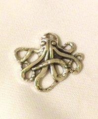 440. Antique Silver Leggy Octopus Pendant