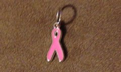 609. Pink Breast Cancer Awareness Ribbon Pendant