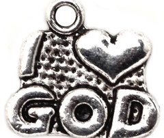 299. I 'heart' God Pendant