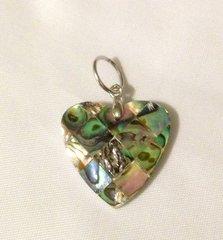 1198. Abalone Shell Squared Heart Pendant