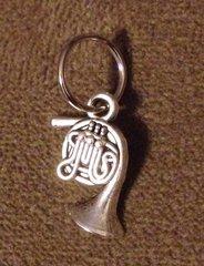 554. French Horn Pendant
