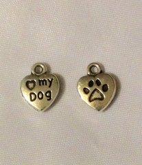 1174. Small 'heart' My Dog Pendant