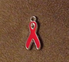 1052. Red Awareness Ribbon Pendant