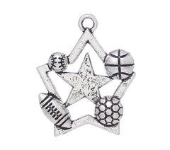 45. Allstar Basketball, Baseball, Football & Soccer Pendant