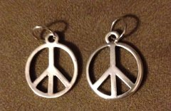 436. Large Peace Sign Pendant