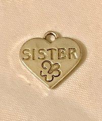 1696. Sister Heart Pendant