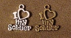 917. I heart my Soldier Pendant