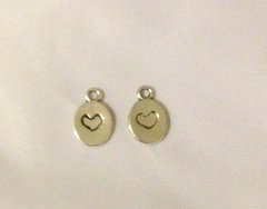 1175. 2 sided Small Plain Heart Pendant