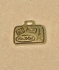 1709. London Paris Suitcase Pendant