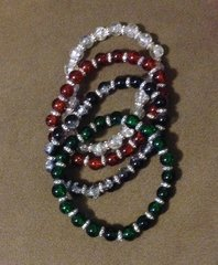 1141.  Lisa's Handmade Glass Beaded Stretch Bracelets