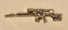 1804. Gun Pendant