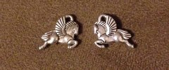 597. 2 Sided Pegasus Pendant