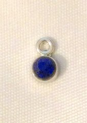 1592. September Birthstone Sapphire Blue Rhinestone Pendant