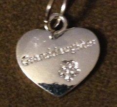 967. Granddaughter Heart with Flower Pendant