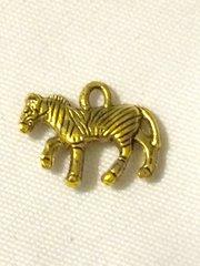 1414. Antique Gold Zebra Pendant