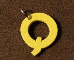 944. Wood Letter Q Pendant