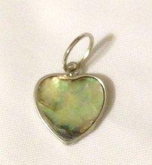 1202. Small Abalone Shell Heart Pendant