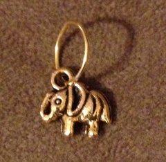 568. Golden Elephant Pendant