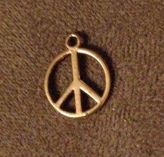 433. Golden Peace Sign Pendant
