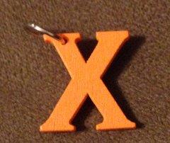 951. Wood Letter X Pendant