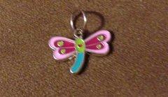 641. Multi Color Enameled Dragonfly Pendant