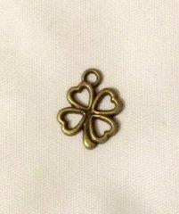 97. Antique Bronze Four Leaf Clover Pendant